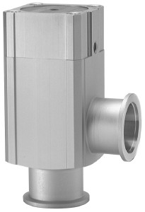Pneumatic operated bellow sealed angle valve, Aluminum body double acting with double Solenoid, DN16KF