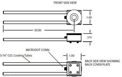 "Single Crystal sensor, 3/16"" cooling tubes"