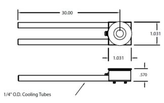 "Single Crystal sensor, 1/4"" cooling tubes"