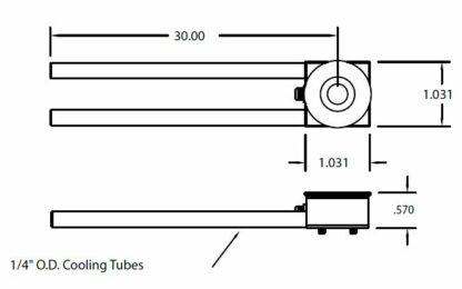 "Single Crystal sensor, 1/4"" cooling tubes"