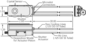 """Dual Quartz Crystal sensor, 1/8"""" cooling tubes"""