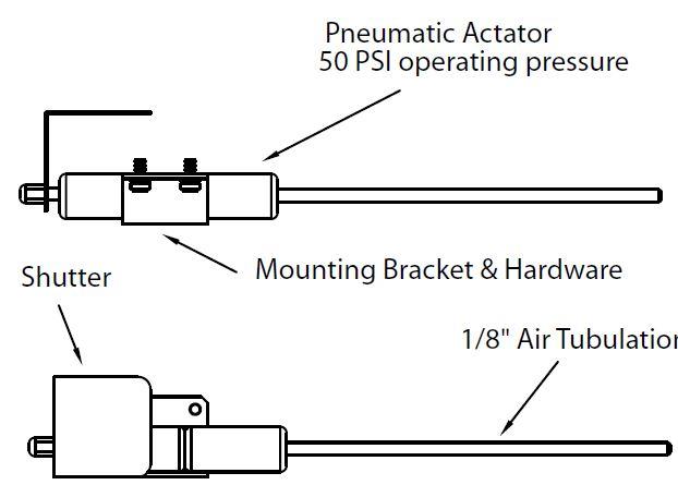 Shutter Package for single Quartz Crystal sensor