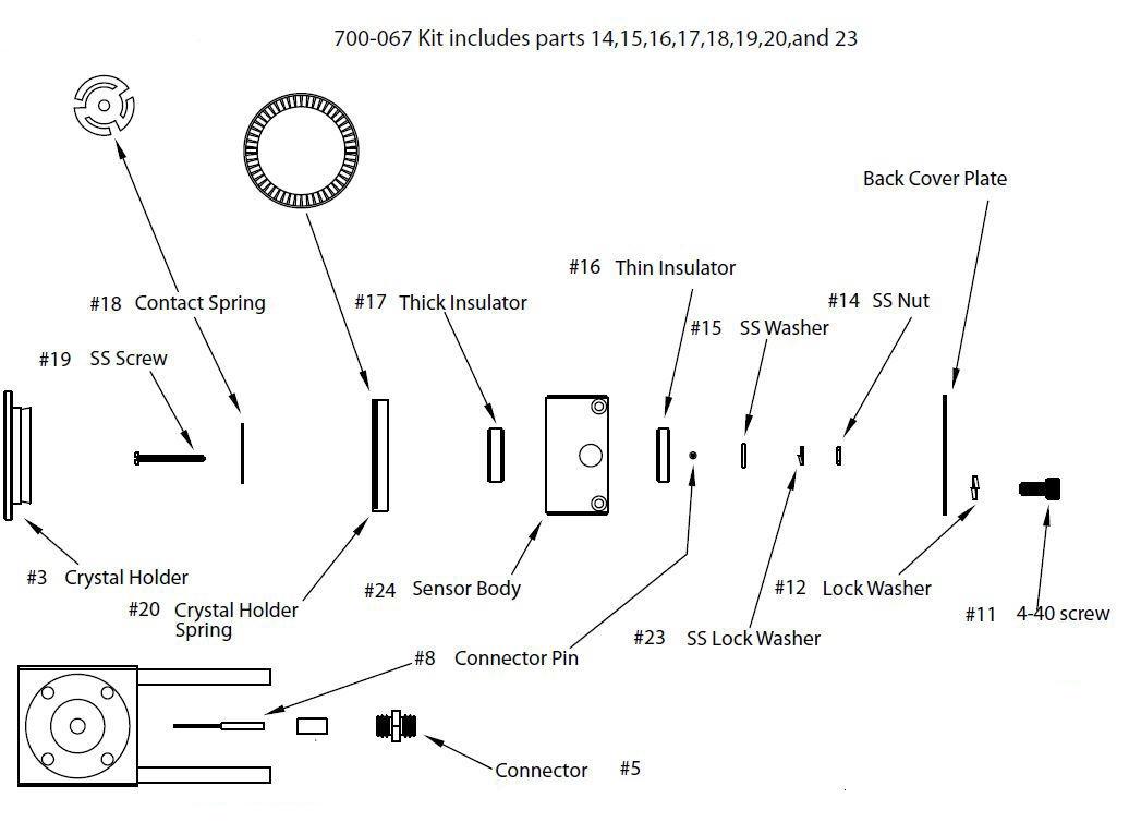 Quartz sensor rebuild kit
