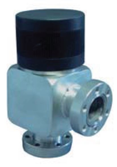 Manual operated, bellow sealed angle valve, DN19CF