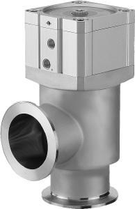 Pneumatic operated smooth pumping angle valve, Aluminum, DN40KF