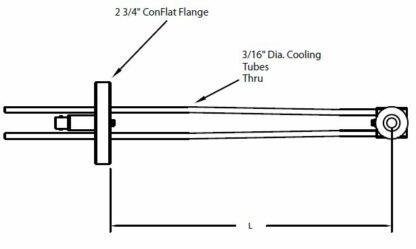 DN40CF feedthrough with single Quartz Crystal sensor including in-vacuum cable