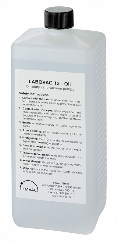 Paraffin oil for rotary vane pumps with vapor pressure 10 e-8 mbar. viscosity @40C. = 94cSt. (1 ltr)