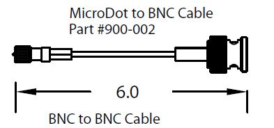 MicroDot to BNC Coax cable, L=150mm