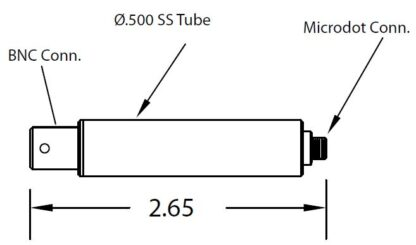 "1/2"" diameter tube with Microdot to BNC connector,"