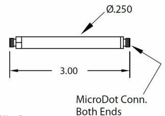 "1/4"" diameter tube with Microdot to Microdot,"
