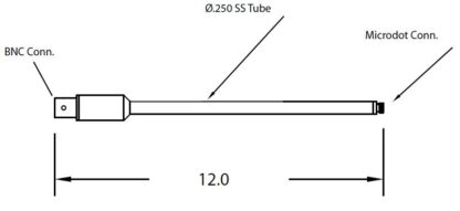 """1/4"""" diameter tube with Microdot to BNC connector 12"""","""
