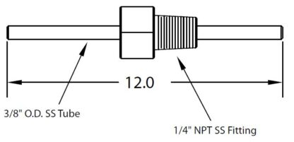 """1/4"""" NPT fitting with tube 3/8"""" OD"""