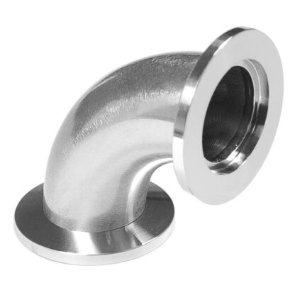 90º radius elbow DN10KF, stainless steel 316L