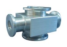 Reducing 4-way cross Aluminum, DN40KF/DN16KF