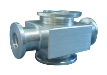 Reducing 4-way cross Aluminum, DN40KF/DN25KF