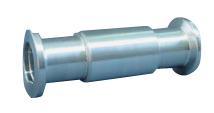Full nipple Aluminum 100mm, DN25KF