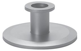 Reducer nipple Aluminum, DN25KF/DN10KF, L=40mm