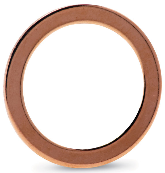 Copper gasket (100/pkg) (ID 203,25mm; OD 222,0mm), DN200CF
