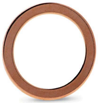 Copper gasket (ID 127,2mm OD 141,4mm), DN125CF