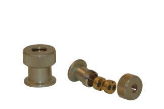 Thermocouple feedthrough 2 pins Nickel plated Brass, DN25KF