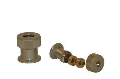 Thermocouple feedthrough 2 pins Nickel plated Brass, DN10KF