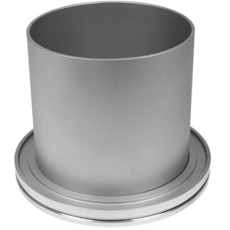 Half nipple long DN160ISO, height 100mm, tube OD=160mm, Aluminum