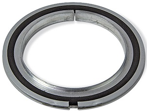 Centering ring with outer ring aluminum/Viton, DN63ISO