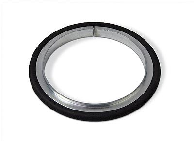 Centering ring Aluminum Neoprene, DN100ISO