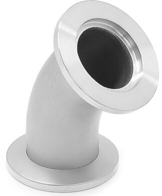 45º radius elbow DN10KF, stainless steel 316L