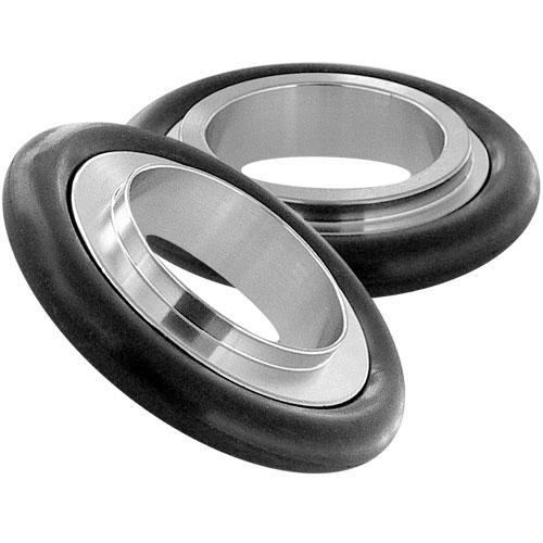 Reducing centering ring Aluminum Neoprene, DN32KF/DN40KF