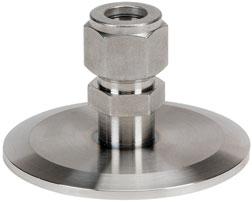 Adapter 4mm Swagelok to DN16KF flange