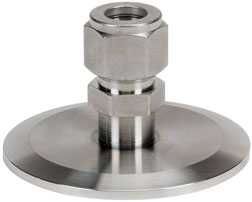 Adapter 10mm Swagelok to DN25KF flange