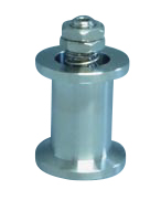 Adjustable (70 - 270 mBar) spring loaded overpressure relief valve DN40KF