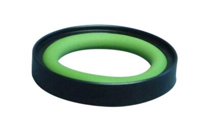 Outer centering ring from POM with Perbunan O-ring, DN16KF/DN10KF