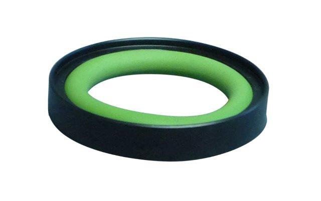 Outer centering ring from POM with Neoprene O-ring, DN16KF/DN10KF