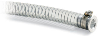 PVC hose 500mm, Nickel plated Brass DN25KF flange