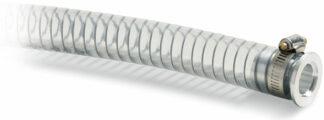PVC hose 1000mm, Aluminum DN40KF flange