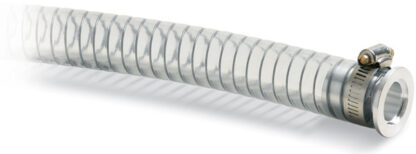 PVC hose 1000mm, Nickel plated Brass DN16KF flange