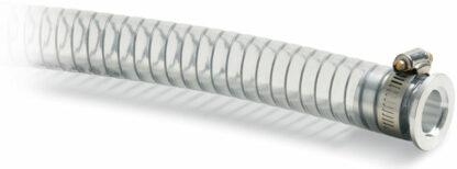 PVC hose 1000mm, Nickel plated Brass DN25KF flange