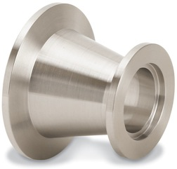 Conical reducer nipple DN50KF/DN25KF, stainless steel 316L