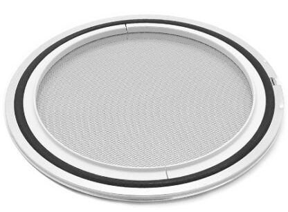 Filter centering ring mesh 3,15 mm and wire 0,8 mm. Viton seal, DN200ISO
