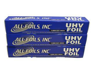 150 meter UHV Aluminum foil (width 610mm), 38 um thick