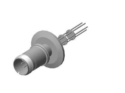 6 pin feedthrough with air-side connector 700Volt / 10 Amp. DN40KF flange
