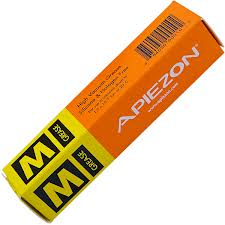 Apiezon M grease, melting temp. 44 C., vapor pressure 2.10-9 mBar, 25 gram