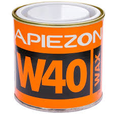 Apiezon W for sealing joints, melting point 80 C vapor pressure 10-9 mBar. 0,5 kg