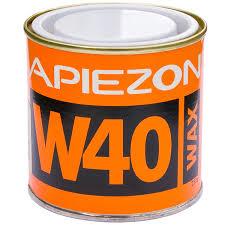 Apiezon W for sealing joints, melting point 80 C vapor pressure 10-9 mBar. 0,5 kg