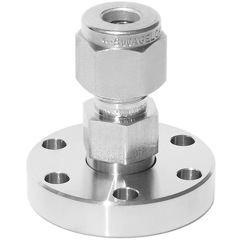 "Adapter 1/4"" Swagelok to DN19CF flange"