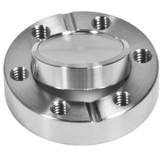 Blank flange rotatable DN100CF, 16 tapped bolt holes M8