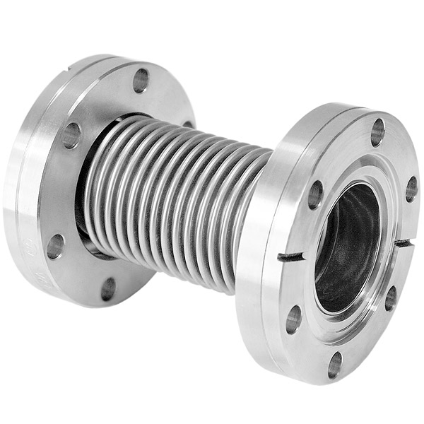 Flexible coupling with flanges stainless steel 304, L = 110mm, DN19CF