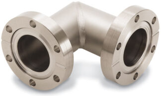 90º mitered elbow fixed flanges, DN40CF, stainless steel 316L